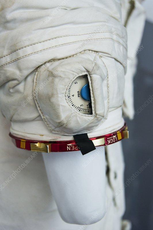 Wrist of Apollo spacesuit