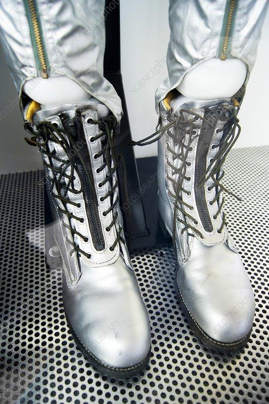 Boots of Mercury training spacesuit