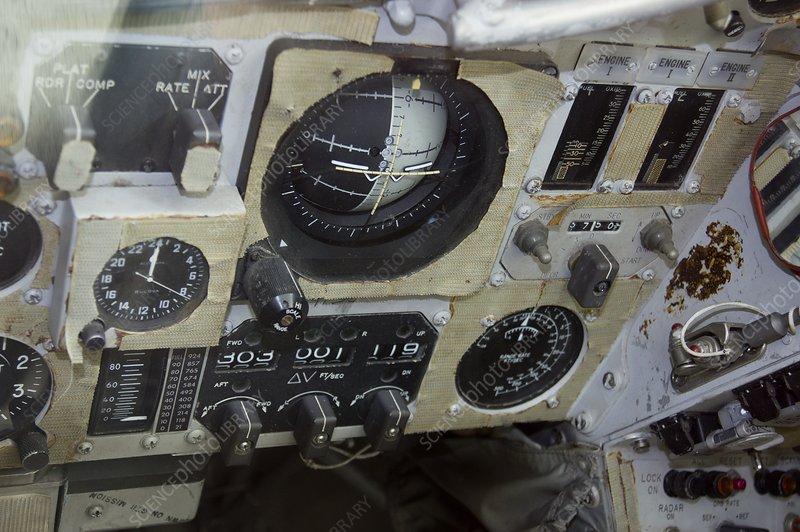 Control panel of Gemini 11 capsule
