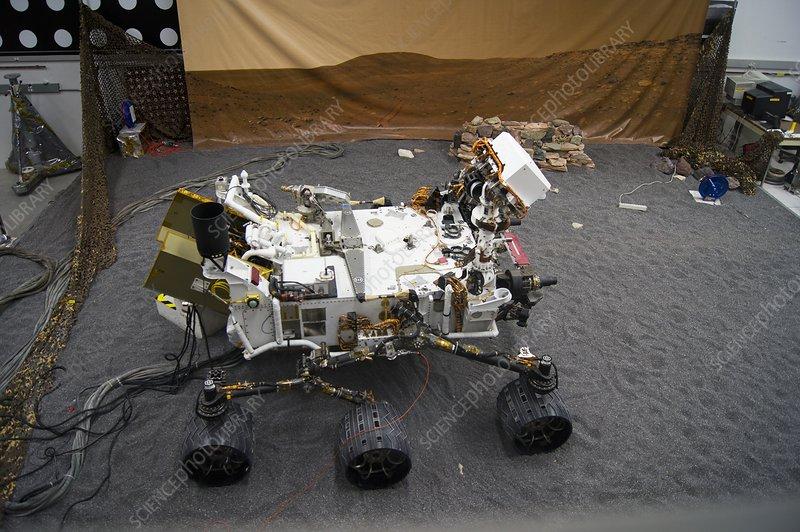 Curiosity engineering model at JPL