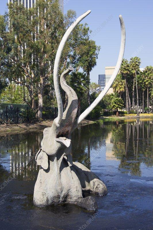 Columbian mammoth at La Brea tarpits, LA