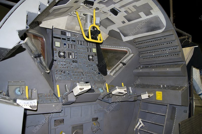 Apollo lunar module interior