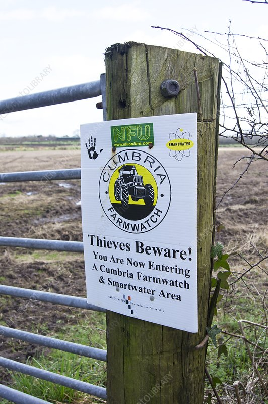 Cumbria farmwatch sign