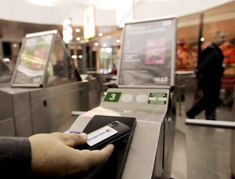 Paying for train ticket with cell phone