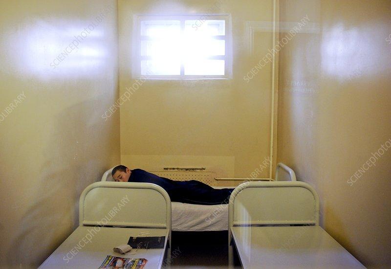 Patient in a psychiatric ward, Russia