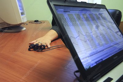 Screen of a polygraph