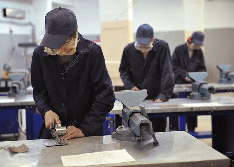 Metalwork students