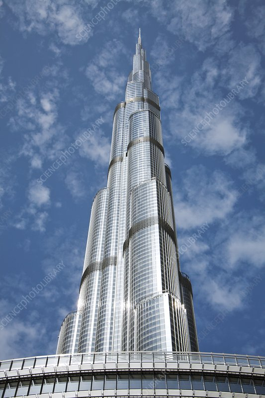 Burj Khalifa skyscraper, Dubai - Stock