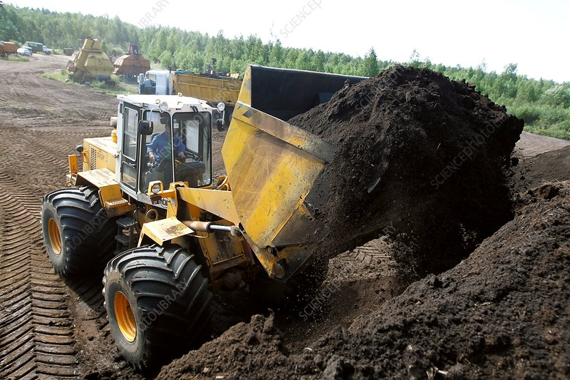 Peat being dug for power station