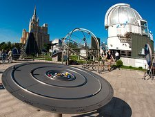 Orrery in Moscow Sky Park