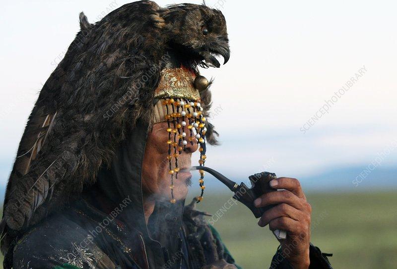 A shaman awaiting sunrise