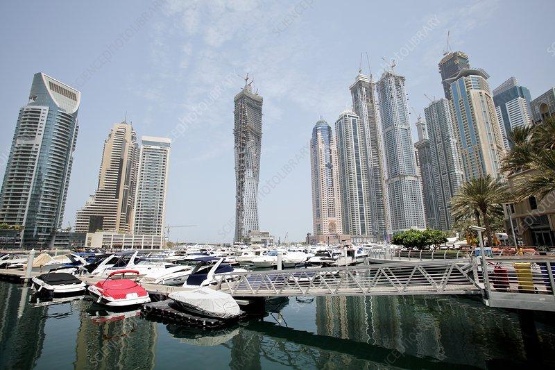 Skyscrapers in Dubai Marina