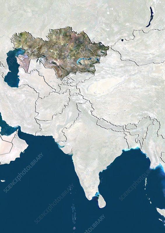 Kazakhstan, satellite image