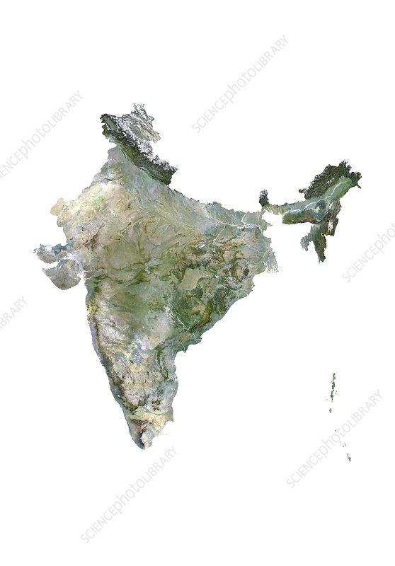 India, satellite image