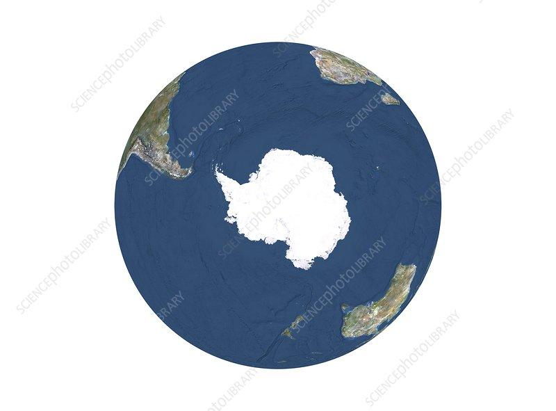 Antarctica, relief map