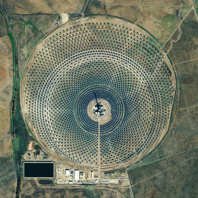 Gemasolar power plant, satellite image