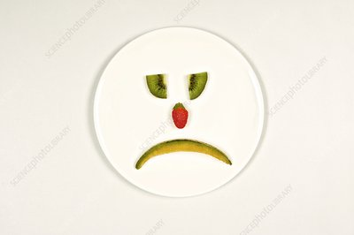 Sad food face