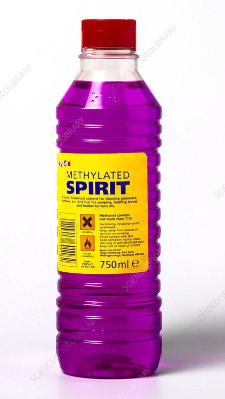 Methylated spirits - Stock Image - C015/0414 - Science Photo
