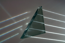 Light rays and triangular prism