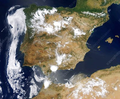 Iberian Peninsula, satellite image