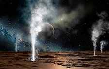 Kuiper Belt Object geysers, artwork