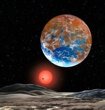 Super-Earth extrasolar planet, artwork