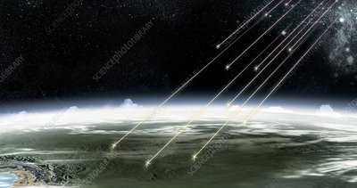 Cosmic rays, artwork