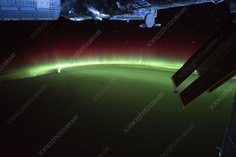 Aurora australis, ISS image