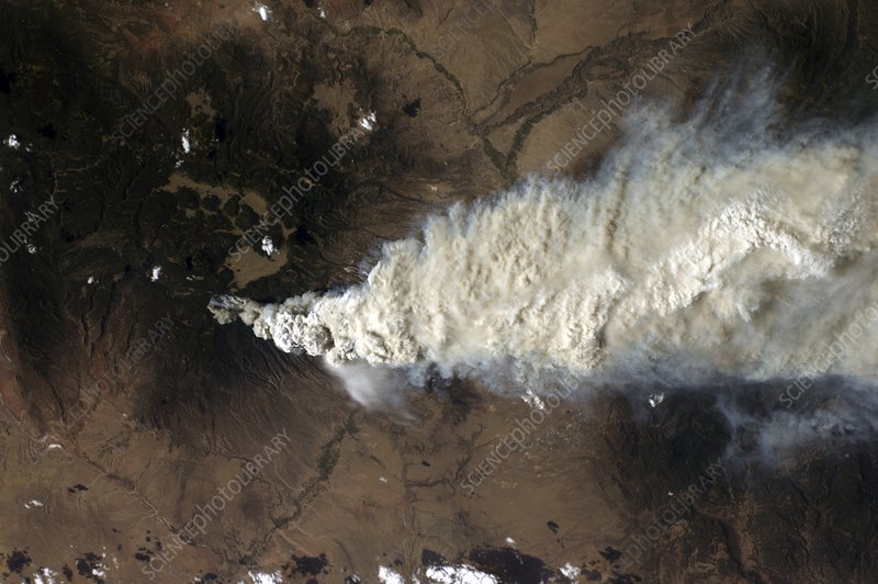 Wildfire, Sante Fe, USA, ISS image