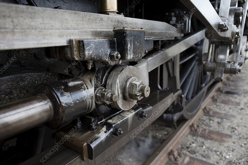 Steam locomotive drive shaft