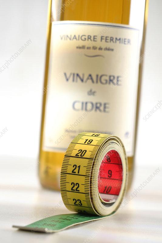 Cider vinegar diet, conceptual image