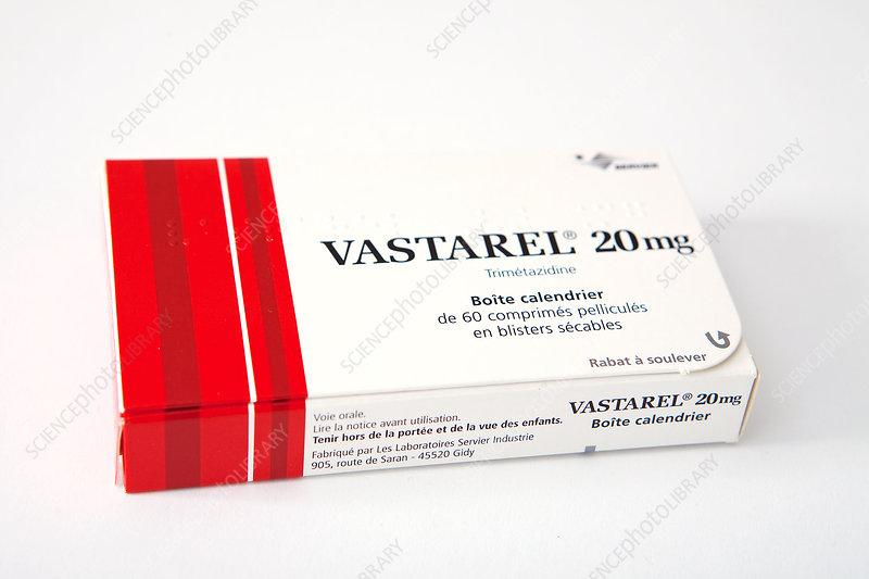 Trimetazidine angina drug