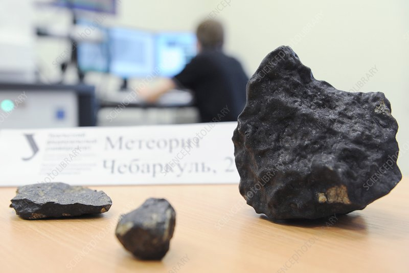 Chebarkul meteorite fragments research