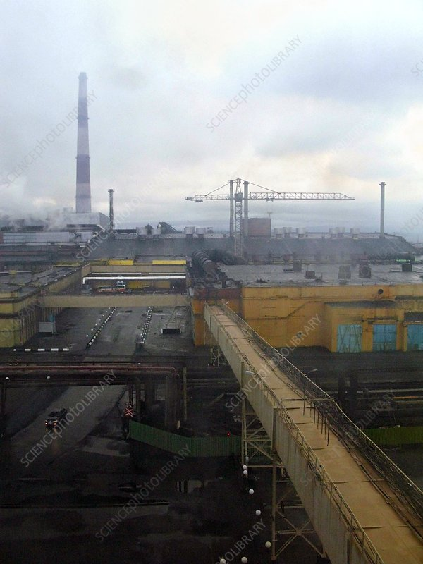 Copper smelting plant, Russia