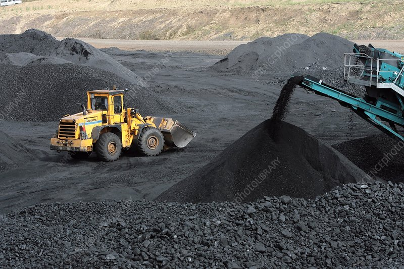 Piles of coal at a mine