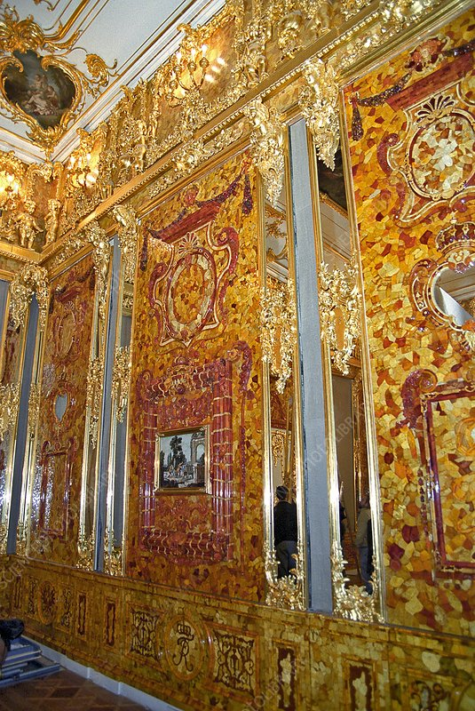 Amber Room at Catherine Palace, Russia