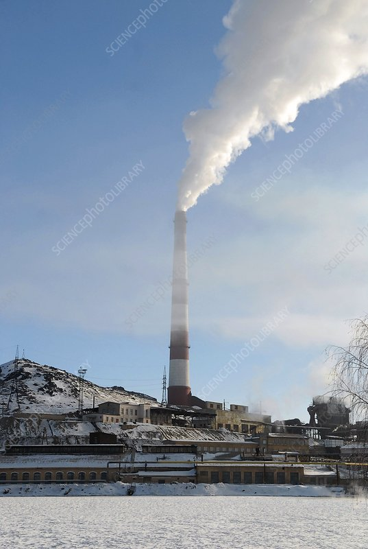 Chimney of a copper smelting plant