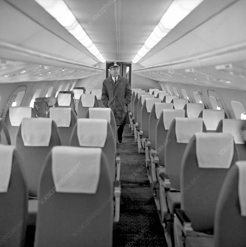 Interior of Tu-144 supersonic airliner