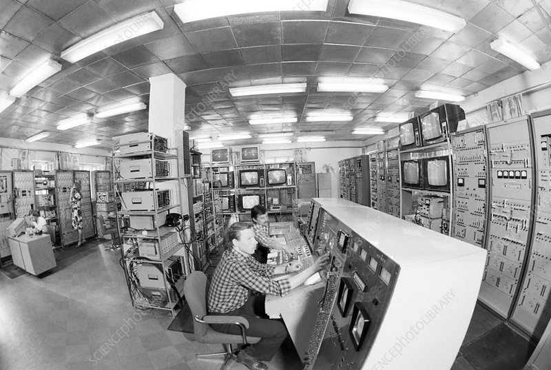Satellite control room, 1980
