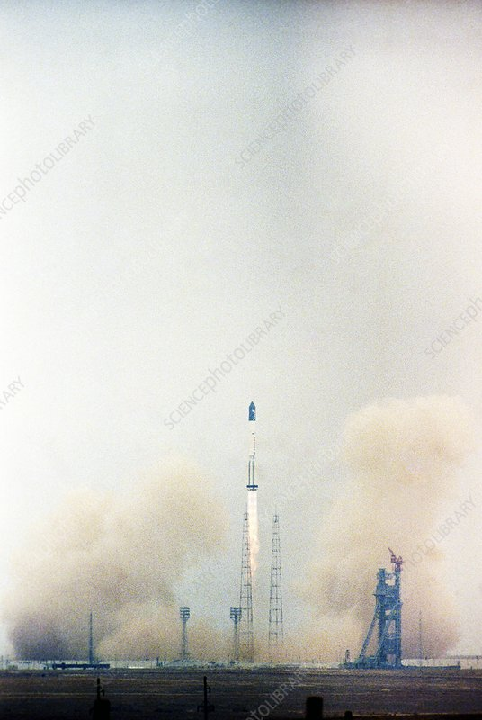 Launch of the Zarya module for ISS
