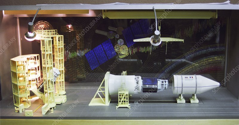 Model of SESAT satellite