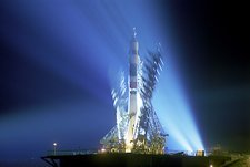 Soyuz 15 rocket on launchpad