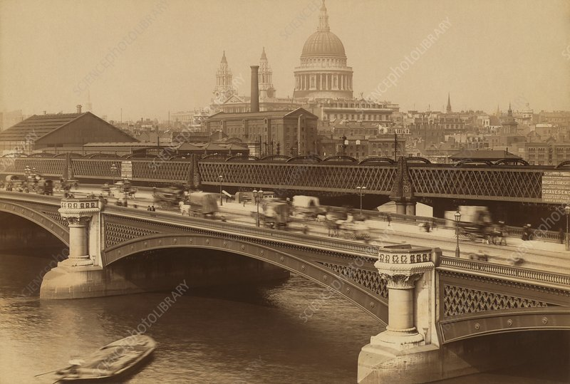 Blackfriars Bridge, London, UK, 1880s