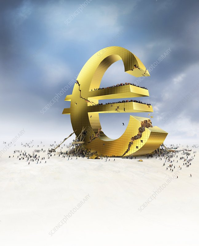 Euro economic crisis, conceptual artwork