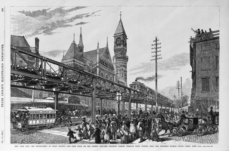 Elevated railway, New York, USA, artwork