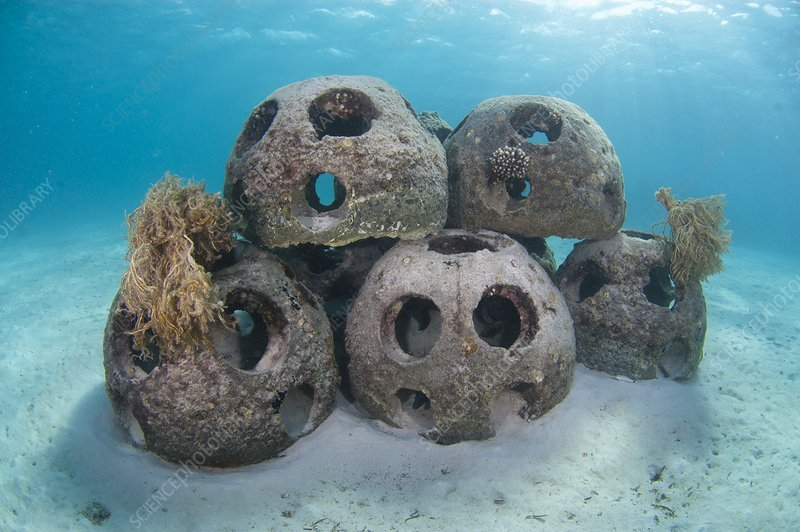 Reef balls to form an artificial reef
