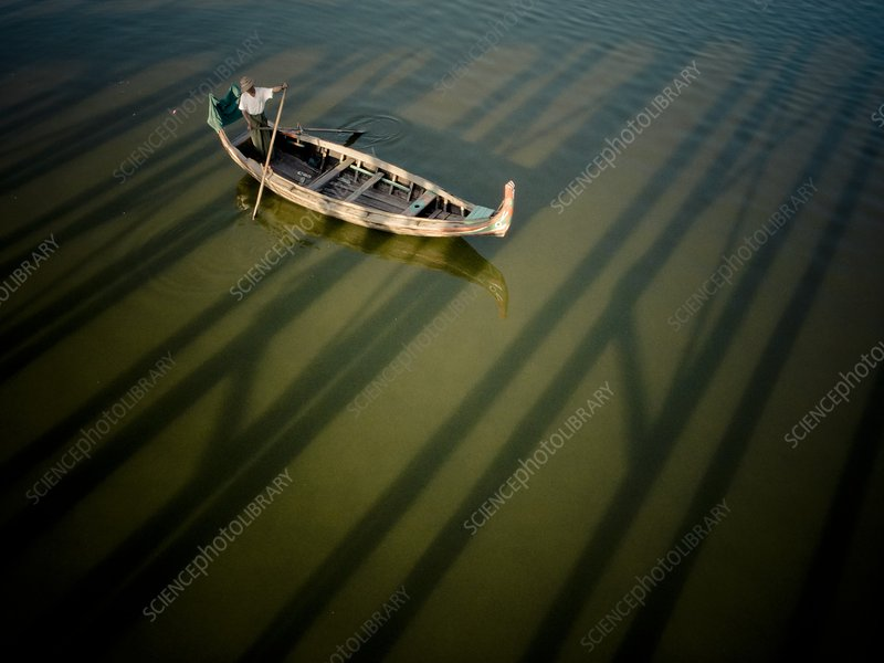 Traditional Burmese boat