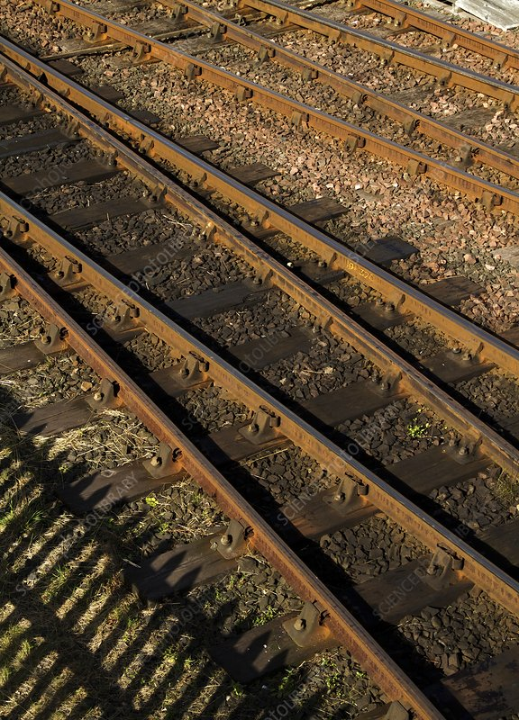 Railway tracks at a junctions
