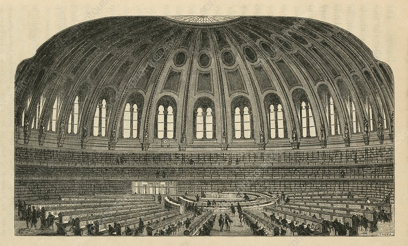 British Museum Reading Room, artwork