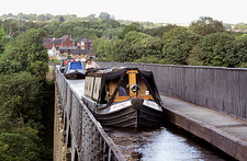 Barges crossing the Pontcysyllte aqueduct